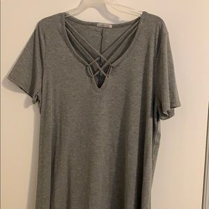 Gray T-shirt dress. Wore one time.